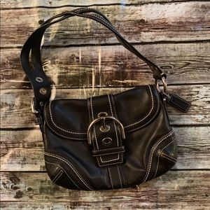 Coach Black Leather Soho Purse